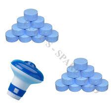 250 Chlorine Tablets 20g Hot Tub Swimming Tablet + Small Floating Dispenser