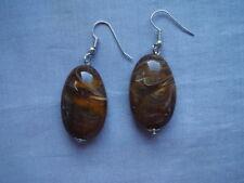 Brass Drop/Dangle Oval Costume Earrings