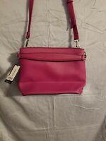 Nine West Woman's New pink canvas crossbody pocketbook shoulder bag purse