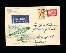Zeppelin Sieger 103a 1931 Hungary Flight Hungary Dispatch