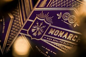 Purple Monarch Royal Edition Playing Cards Gold Theory11 Monarchs Poker Magic