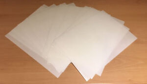 12 A4 sheets THICK white edible wafer/rice paper - good for standup toppers