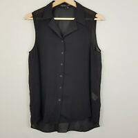 THEYSKENS' THEORY | Womens Black Top RRP$400 [ Size M or AU 12 / US 8 ]