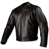 Motorcycle Jacket  AGV Sport Classic Blk Leather Zip out Thinsulate Lining 2X HB
