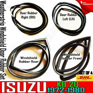 For 1972-79 Isuzu KB20 Pickup Truck Windshields & Weatherstrip Seal Complete Set