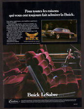 1985 BUICK LeSabre Vintage Original Print AD - 4-door sedan purple car photo