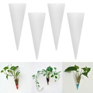 4x Cone Living Room Glass Vase Air Hydroponic Plant Terrarium Planter Pot