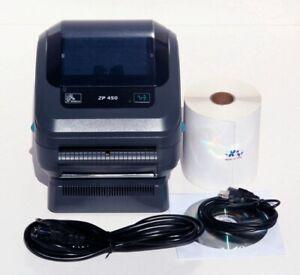 New Open Box Zebra ZP450 ZP 450 Direct Thermal Shipping Label Tag Printer