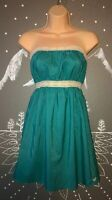 Roxy Small Teal Strapless Dress