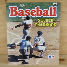 1984 TOPPS BASEBALL STICKER YEARBOOK ALBUM - 100% COMPLETE SET WITH ALL STICKERS