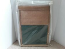 Vintage Hanging Message Board/Bulletin Board/ Dual Cork & Chalkboard Wood Frame