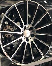 "20"" black pol turbine alloy wheel audi/vw/passat/mercedes 8.5/9.5 with tyres"