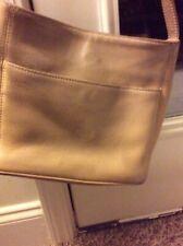 Coach Large Beige Leather Vintage Bag W/ Adjustable Strap