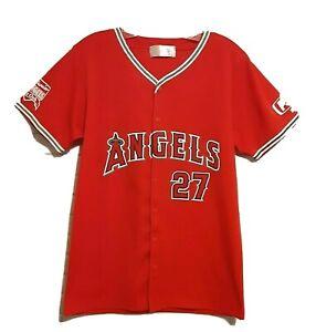 Vladimir Guerrero #27 Los Angeles Angels Youth SGA Red MLB Baseball Jersey XL