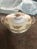 "Noritake China Made In Japan 9"" Serving Bowl W/Lid 8035 Excellent condition"