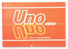 LIBRETTO USO E MANUTENZIONE FIAT UNO 45/60/70/ TURBO i.e./ DIESEL - 6 Ediz. 1988