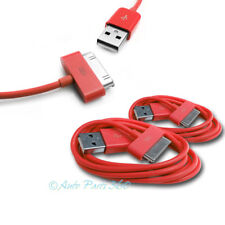 2X 6FT USB TO 30 PIN RED CABLE DATA SYNC CHARGER SAMSUNG GALAXY TAB TABLET 7.0