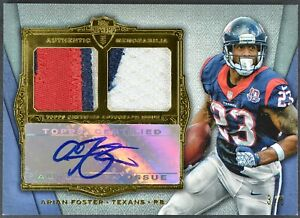 2012 Topps Supreme Arian Foster Dual Relic Auto 3/5 SADR-AF