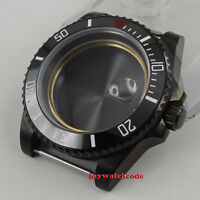 40mm sapphire glass black ceramic PVD bezel Watch Case fit 2824 2836 MOVEMENT