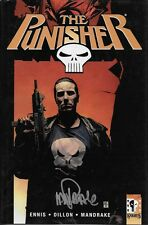 The Punisher vol 3 HC book w/ Steve Dillon sketch signed by Ennis +1, 1st print