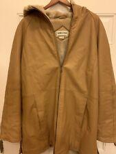 Fitz Wright New York London Paris Milan Leather Hoodie Jacket Coat Fur Lined VTG