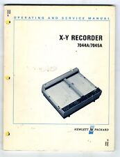 HP - 7044A - 7045A - OPERATING AND SERVICE MANUAL    ( ORIGINAL  BOOK )