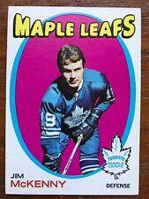 1971/72 Topps Hockey Card #43 Jim McKenny Toronto Maple Leafs EX