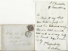 1885 Letter, Cover Queenstown to Isle of Wight