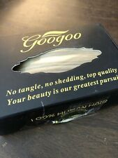 Googoo Human Hair extensions tape in ombre brown/caramel blonde straight 20""