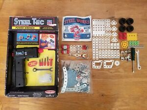 Steel Toys Meccano, Steel Works, Steel Tec, and 1 Unbranded Parts and Pack