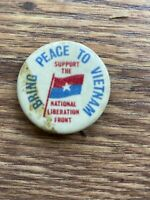 Vietnam War peace protest cause button pin political
