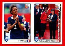 FIFA 365 2015-16 PANINI 2016 -Figurina Stiker- n. 66/67 -WOMEN'S CANADA 2015-New
