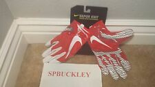 Mens XL Nike Vapor Knit Football Gloves Red White Gf0571 657 Receivers ExLrg