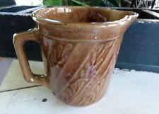 Old Vintage Western Stoneware / Monmouth Pottery Milk Pitcher Stoneware Fern USA