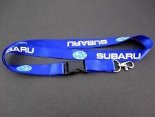 SUBARU JDM Keychain Lanyard WRX STI BRZ Exiga Forester Impreza Tribeca - BLUE