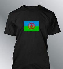 Tee shirt drapeau Manouche homme gitan rom gipsy gens du voyage flag tsigane