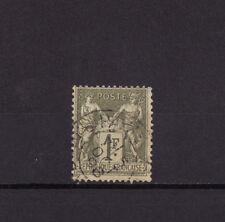 timbre France  Sage   1f   olive clair    num: 82    oblitéré