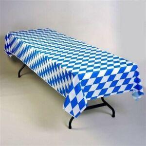 Oktoberfest Bavarian Blue Plastic Tablecloth Oktoberfest Supplies Decorations