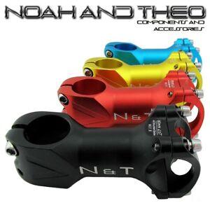 "N&T Bicycle 80mm Stem 28.6mm or 1-1/8"" to 31.8mm Cycling Road Handlebar MTB"