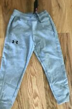 Boy's Ysmall Under Armour Coldgear Loose Fit Jogger Athletic Pants Gray New