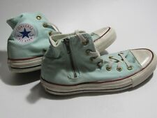 Converse All Star Light Blue High Top Zipper Shoes Womens 6.5 Mens 4.5