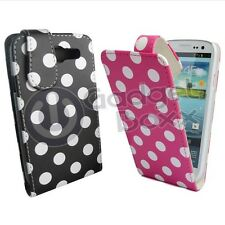 CASE FOR SAMSUNG GALAXY S3 FLIP PU LEATHER POLKA DOT PINK AND BLACK PHONE COVER