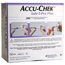 ACCU-CHEK Safe-T-Pro Plus - 200 MONOUSO STERILE foratura alla lancia i dispositivi