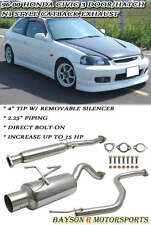 N1-Style Catback Exhaust + Silencer Fits 96-00 Honda Civic 3dr Hatch EK