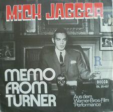 "7"" 1970 ! MICK JAGGER : Memo From Turner /RARE MINT-?"