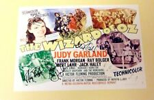 "THE WIZARD OF OZ  PP SIGNED 12""X8"" POSTER JUDY GARLAND"