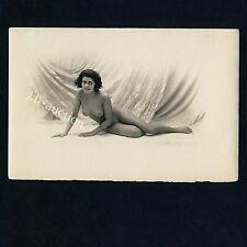 "Cheery NUDE WOMAN/gioiosi NUDE SIGNORA * VINTAGE 10s French ""L"" risque PHOTO"