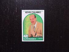 1989 1990 NBA Hoops Announcer Card Kevin Calabro Supersonics Basketball Card