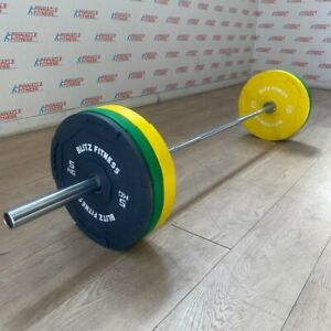 Coloured Rubber Bumper Plates by Blitz Fitness