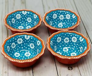 The Pioneer Woman Daisy Ditsy Dip Dipping Bowl Set of 4 New